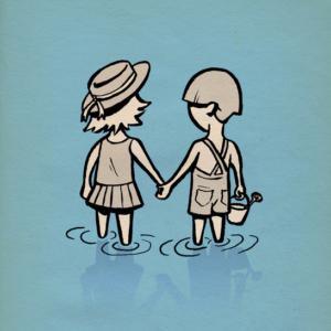 Eddie Monotone, seaside, illustration, beach, seaside