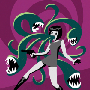 Eddie Monotone, Double Barrel Theatre, comic, cover, illustration, Sixties, horror, pop art
