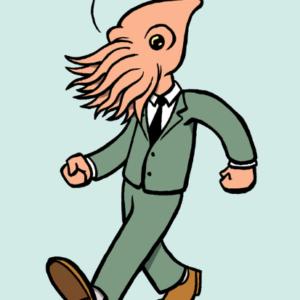Illustration by Eddie Monotone. squid cartoon comics pop-art