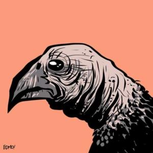 A fictional bird, drawn for fun